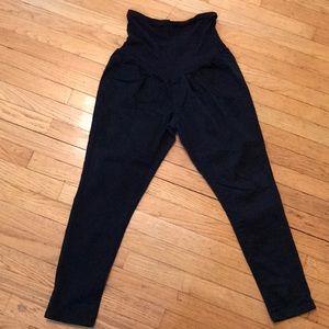 Maternity Skinny Black Ankle Length Pants